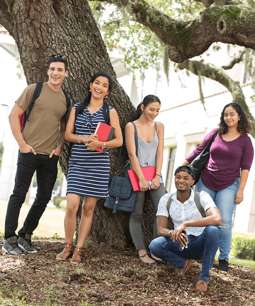 Osceola Campus students outside