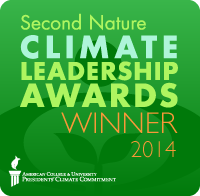Second Nature Climate Leadership Award 2014