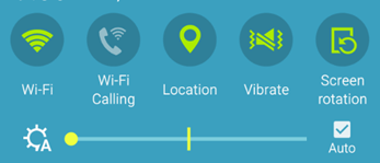 Android devices settings icons