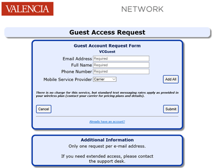 Guest Access Request