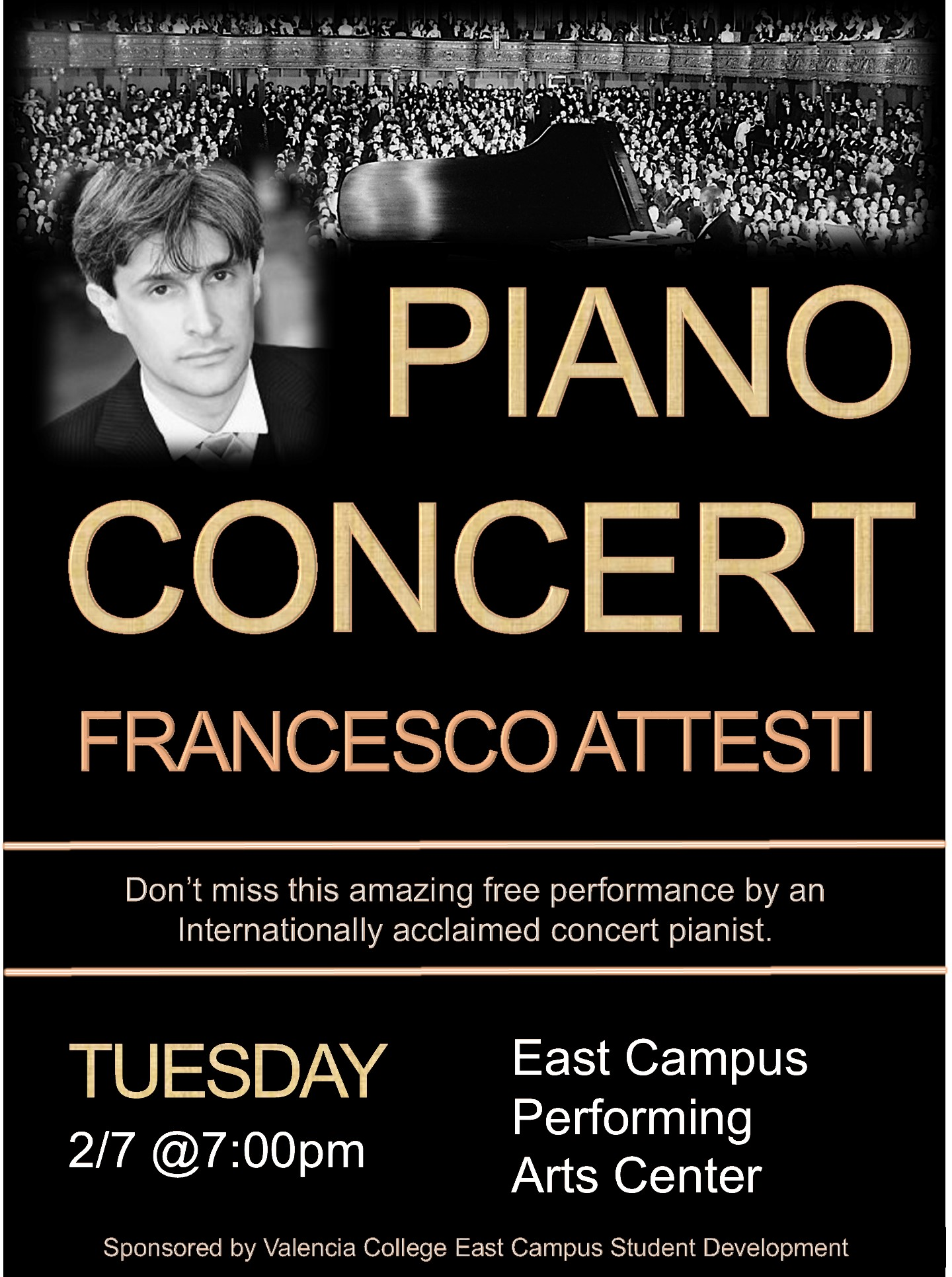 Concert poster-free piano concert