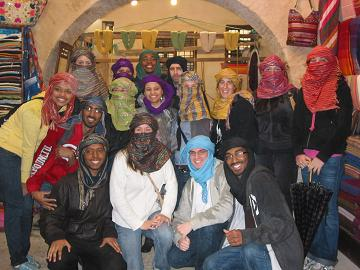 Valencia Honors students in Morocco